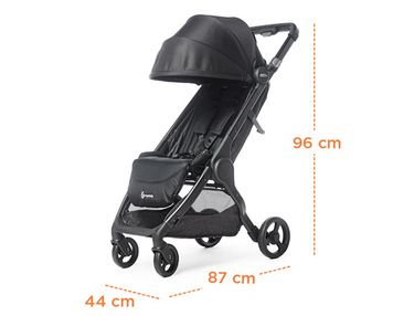 Opened Stroller with measurements image